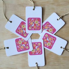 Daisy A Day Pink 6 Gift Tags