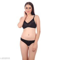 Lingerie Sets Trendy Women's Lingerie Sets Fabric: Hosiery Sleeves: Sleeves Are Not Included Size: 30B: Cup Size - Underbust - 25 in To 26 in Overbust - 31 in To 32 in Waist - 28 in Hip - 34 in 32B: Cup Size - Underbust - 27 in To 28 in Overbust - 33 in To 34 in Waist - 31 in Hip - 36 in 34B: Cup Size - Underbust - 29 in To 30 in Overbust - 35 in To 36 in Waist - 33 in Hip - 38 in 36B: Cup Size - Underbust - 31 in To 32 in Overbust - 37 in To 38 in Waist - 37 in Hip - 40 in Type: Stitched Description: It Has 1 Piece Of Bra & 1 Piece Of Panty Work: Lace Work Country of Origin: India Sizes Available: 30A, 32A, 34A, 36A, 30B, 32B, 34B, 36B   Catalog Rating: ★4 (2783)  Catalog Name: Trendy Women's Lingerie Sets CatalogID_271537 C76-SC1043 Code: 041-2052008-312