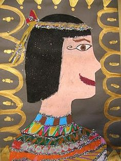 The Elementary Art Room!: Egyptian Portraits Source by Elementary Art Rooms, Art Lessons Elementary, Ancient Egypt Art, Ancient Aliens, Ancient Artifacts, Ancient Greece, Art Auction Projects, Art Projects, 4th Grade Art