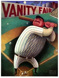 Babe Ruth. Vanity Fair Magazine. September 1933 by Miguel Covarrubias