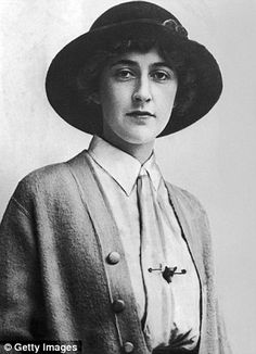 Love this earlier photo of Agatha Christie looking quite young, girlish and stylish.