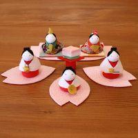 yumemiya: Cherry tree petal Dolls' Festival - Purchase now to accumulate reedemable points! Hina Matsuri, Cherry Tree, Origami, Miniatures, Felt, Japan, Dolls, Christmas Ornaments, Holiday Decor