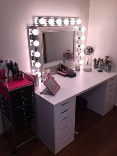 Makeup room diy, vanity makeup rooms, vanity room, vanity mirrors, vanity d Vanity Makeup Rooms, Vanity Room, Vanity Mirrors, Diy Vanity, Beauty Room Decor, Makeup Room Decor, Room Ideas Bedroom, Bedroom Decor, Glam Room
