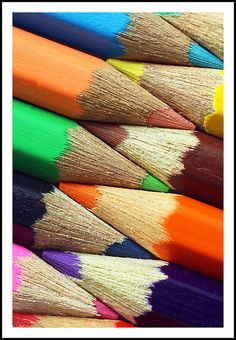 Crayola colored pencils that creates a bright and sunny drawing