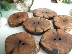 Wooden Buttons  6 Antique Looking Mulberry Tree by TheHickoryTree on etsy.