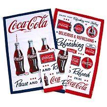 Coca-Cola 100% Cotton Set of 4 Tea Towels