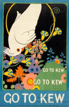 Vintage Travel Poster - Go to Kew - by Maxwell Ashby Armfield - London Transport.