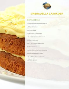 Grinadella laagkoek 1 Baking Recipes, Cake Recipes, Dessert Recipes, Desserts, Cake Templates, Homemade Dinner Rolls, Rum Cake, South African Recipes, Big Cakes