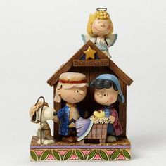 Jim Shore sets the stage in this new Christmas pageant featuring the beloved characters from Peanuts. Starring Charlie Brown as Joseph, Lucy as Mary, Sally as t