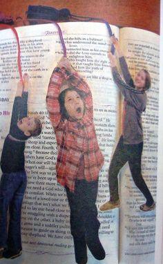 kid photo bookmarks