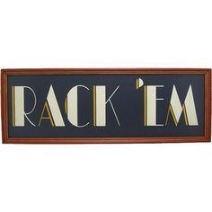 "New Framed ""Rack 'Em"" Wooden Custom Billiards Pool Room Sign | eBay"