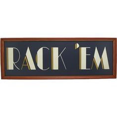 "New Framed ""rack 'em"" Wooden Custom Billiards Pool Room Sign"