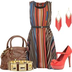 """""""Stripes! Summer to Fall"""" by country-chic-ca on Polyvore"""