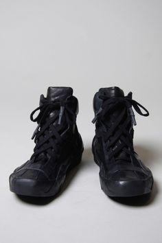 Visions of the Future // boris-bidjan-saberi black vegetable tanned trainers
