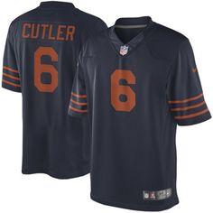Jay Cutler Chicago Bears Nike Alternate Limited Jersey - Navy Blue - $89.99