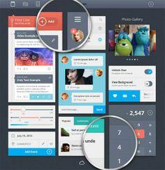 Pixeden - Psd Flat UI Kit Template Vol2