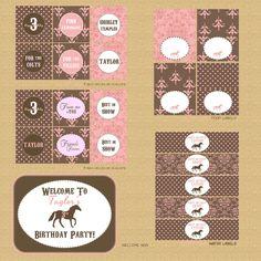 Printable Pony Horse Birthday Party Invitation love the burlap