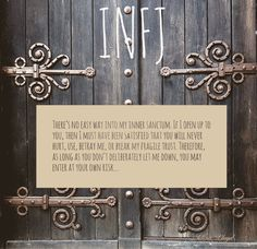 ... & if you do fool & hurt me, these doors will slam so hard & so permanently, you will question your own existence.