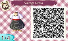 Vintage Dress - Animal Crossing New Leaf QR Codes