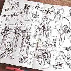 Light it up.   #Repost @nickpbaker  ・・・  clamp lamp clamp lamp  .  .  .  .  .  #doodles #sketch #sketches #clamp #metal #lamp #lightdesign #lampdesign #furniture #industrialdesign #light #furnituredesign #sketchbook #monami #ballpoint #moleskine #illustration #product #productdesign #practice #penandink #blackandwhite