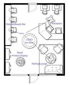 barber shop interior design floorplay layout 484 square feet salon pinterest manicures. Black Bedroom Furniture Sets. Home Design Ideas