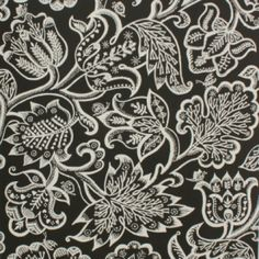 Celia Birtwell Jacobean At Night Wallpaper - Ivory, available from www.englishabode.com