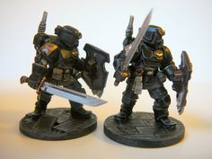 I'm converting 10 Scouts into 10 Arbites Enforcers, but I need riot shields, of course. Warhammer 40k Figures, Warhammer Paint, Warhammer Models, Warhammer 40k Miniatures, Warhammer 40000, Warhammer Imperial Guard, 40k Imperial Guard, Guardia Imperial 40k, Minis