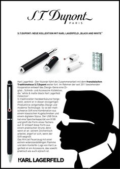 Karl Lagerfeld Black & White exclusive design co-operation with S.T. Dupont