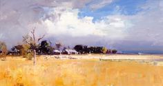 Knight's paintings reflect his fascination with landscape. He is one of the few Australian artists today who is still committed to painting en plein air . Landscape Artwork, Abstract Landscape Painting, Watercolor Landscape, Australian Painting, Australian Artists, Encaustic Art, Cool Paintings, Artist Art, Painting Inspiration