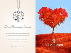 Jewellery featured with the power of nature. Discover: http://www.juliejulsen.com/deutsch/tree-life/
