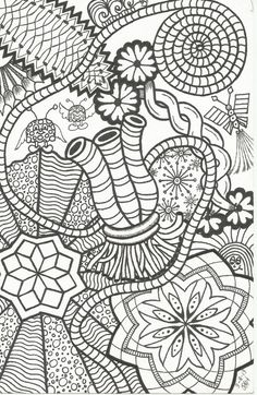 Zentangles and Art: Items similar to Zentangle-Inspired Doodle by PLHi...