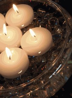 floating candles white