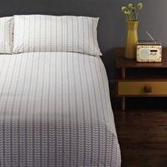 Orla Kiely Linear Stem Grey King Size Duvet Cover Cotton Bed Linen