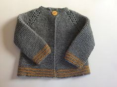 Ravelry: Top Down Garter Stitch Baby Jacket pattern by Nancy Elizabeth Munroe :-) I want my designs to stand out, not only for their simple classic lines, but also for the well written and illustrated pattern. Crochet Jacket Pattern, Crochet Baby Jacket, Baby Cardigan Knitting Pattern, Baby Knitting Patterns, Baby Patterns, Crochet Cardigan, Cardigan Sweaters, Clothes Patterns, Knit Baby Sweaters