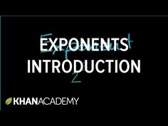 Introduction to exponents   Pre-Algebra   Khan Academy - YouTube