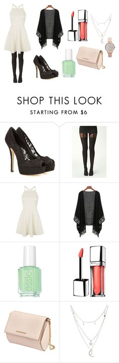 """Dinner night (2)"" by millie-simpson on Polyvore featuring Dolce&Gabbana, Boohoo, Topshop, Essie, Maybelline, Givenchy and Charlotte Russe"