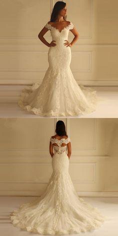 Robe De Mariage Sweetheart Romantic Wedding Dresses 2016 Cap Sleeve Lace Mermaid Wedding Bride Gown Plus Size Vestido De Noiva