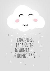 Darmowy plakat - Zimowa chmurka