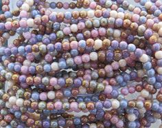 4mm Opaque Lumi Luster Color Mixed Czech Glass by beadsandbabble