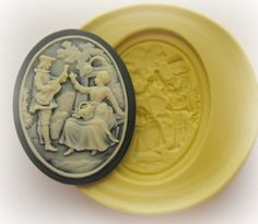 Silicone Cameo Molds Couple Mold Resin Cameo Moulds by Molds4You, $6.95