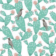 Hawthorne Threads - Mojave - Prickly Perch in White  #MojaveFabric