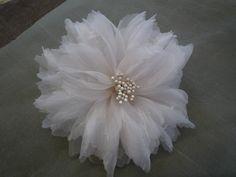 Silk Fabric Flower Hair Piece