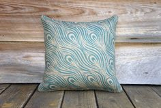 Peacock Pillow Cover Decorative Throw Pillow by TheWatsonShop Peacock Pillow, Printed Cushions, Decorative Throw Pillows, Pillow Covers, Burlap, Feather, Turquoise, Prints, Pattern