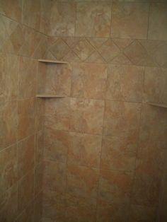 Wonderfull corner shower shelf tile Shed Decks Environmental Services Cabinets mudroom Asian Expansive