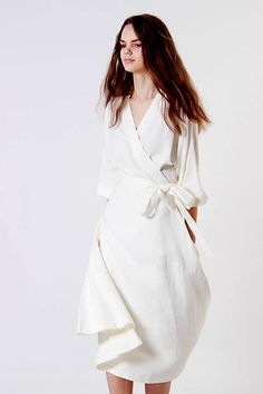 THALIA linen dress - White Linen Wrap Dress Source by lgerstmann - White Wrap Dress, White Linen Dresses, Elegant Dresses, Kimono Dress, Tee Dress, Belted Dress, Dress For Summer, Summer Dresses, Feminine Mode