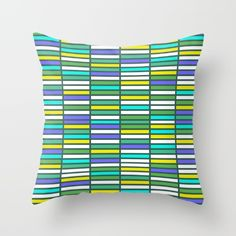 Color Grid 03 Throw Pillow