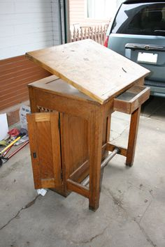 turn of the century drawing table - too cool