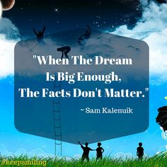 "A little #truth to #motivate you to #keepsmiling   Never give up based on ""facts"".. they simply do not matter..   http://www.TheOnLineMarketingAngel.com"