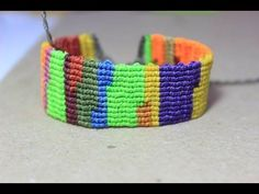 como hacer una pulsera macrame de retazos o reciclada Es.PandaHall.com