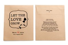 save the date seed packets | ... the Love Grow' Personalised Seed Packet Favour - Wedding in a Teacup